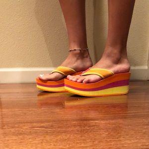 AE platform sandals